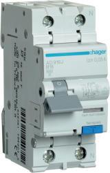 HAGER Disjunctor diferential RCBO 1P+N 16A/30mA curba B 6kA Tip A Hager AD916J (AD916J)