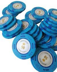 MagazinulDeSah Jeton Poker Montecarlo 14 grame Clay, inscriptionat 50