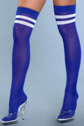 Be Wicked Going Pro Thigh High Stockings - Blue