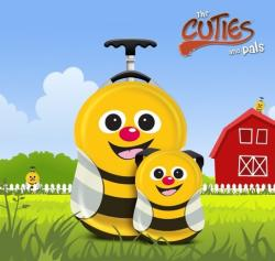 Cuties & Pals Valiza tip trolley si ghiozdan Cazbi the Bee - Cuties and Pals