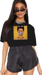 THEICONIC Tricou dama negru - Frida in Pandemie