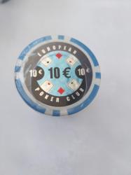 MagazinulDeSah Set 25 jetoane poker ABS 11, 5 gr model EPC - inscriptionat 10
