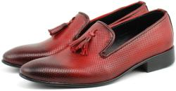 Ellion Pantofi barbati eleganti, rosii din piele naturala - 036RED (036RED)