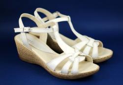 Rovi Design Sandale dama din piele naturala, cu platforma - S474BEJ (S474BEJ)