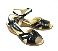 Rovi Design Sandale dama negre, din piele naturala S3N (S3N)