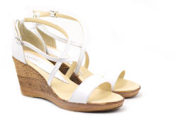 Rovi Design Sandale dama din piele naturala bej - Made in Romania S7A2 (S7A2)