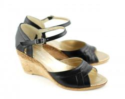Rovi Design Sandale dama cu platforma din piele naturala S54N (S54N)