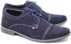 Philippe Pantofi eleganti din piele naturala intoarsa bleumarin EZELVELURSALBASTRU (EZELVELURSALBASTRU)