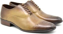 Dolly Shoes Oferta marimea 41, 44 Pantofi barbati eleganti din piele naturala maro deschis - 245MD (245MD)
