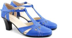 Rovi Design Sandale dama din piele naturala cu toc de 7cm - S48BLEU (S48BLEU)