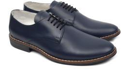 NIC-MAR Pantofi barbati eleganti din piele naturala bleumarin NIC184BLMBOX (NIC184BLMBOX)