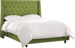 MobAmbient Pat cu somieră rabatabilă și tapițerie verde deschis - model MINTY