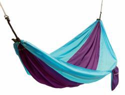Frendo nylonová hamaka hojdacia sieť, modro purpurová