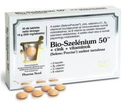 Pharma Nord Bio-Szelénium 50 Cink + Vitaminok (30 db)