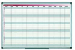 Bi-Silque Planner magnetic anual Bi-Silque, saptamani/luni, rama din aluminiu, 60 x 90 cm (BSGA0361040)