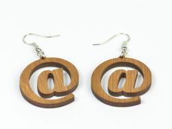 Krea-Wood Fülbevaló, barna (EAR001)
