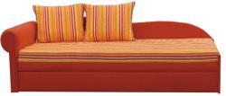 Tempo Kondela Colţar extensibil, portocalie/cu model dungi, stânga, AGA D