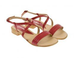 Rovi Design Sandale dama din piele naturala cu platforme joase - S8R (S8R)