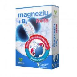 Polisano Magneziu + Vitamina B6 Forte, 30 comprimate, Polisano (FSH7545)