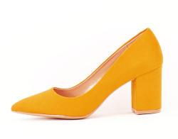 SOFILINE Pantofi galbeni cu toc gros Adelina (1832 YELLOW -36)