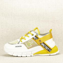 SOFILINE Sneakers alb cu galben Mara (TS-513 YELLOW-38)