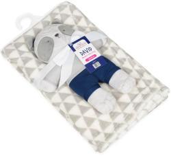 BABYMATEX Pătură cu jucărie Lion Blue 75x100cm (AGSTB0385-04) Lenjerii de pat bebelusi, patura bebelusi