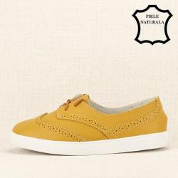 SOFILINE Pantofi oxford galbeni Carla (M-207 YELLOW -39)