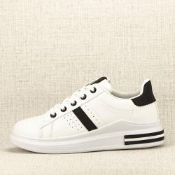 SOFILINE Sneakers alb cu negru Sonia 2 (BO-166 WHITE/BLACK/H/A -36)