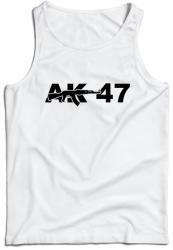 WARAGOD maieu pentru bărbați AK-47, alb 160g/m2