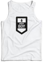 WARAGOD maieu pentru bărbați Army boy, alb 160g/m2