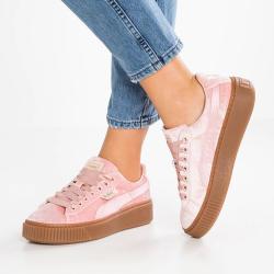 SOFILINE Puma pantofi sport Basket Platform VS Wns din material textil (366721 02 ROZ -39)