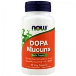 NOW Dopa Mucuna - DOPA Mucuna - 90 capsule - ACUM ALIMENTE, NF3092 (NF3092)