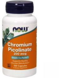 NOW Picolinat de crom - 100 capsule - ACUM ALIMENTE, NF1420 (NF1420)