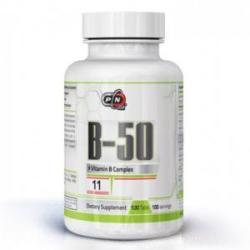 Pure Nutrition Vitamine B - 50 - 100 comprimate, Pure Nutrition, PN0465 (PN1790)