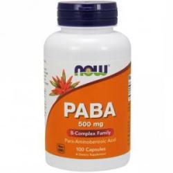 NOW Acid paraaminobenzoic 500 mg. - PABA - 100 capsule - ACUM ALIMENTE, NF0485 (NF0485)