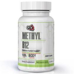 Pure Nutrition Tablete masticabile de vitamina Metil B - 12 - 100 de bucăți, Pure Nutrition, PN9000 (PN9000)