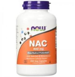 NOW N-acetilcisteină 600 mg. - N-acetil cisteină - 250 capsule - ACUM ALIMENTE, NF0086 (NF0086)