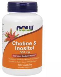 NOW Colină și Inozitol - Colină și Inozitol 500 mg. - 100 capsule - ACUM ALIMENTE, NF0470 (NF0470)