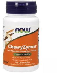 NOW Enzime de mestecat - Chewyzymes - 90 Dragees masticabile - ACUM ALIMENTE, NF2957 (NF2957)