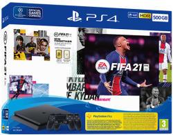 Sony PlayStation 4 Slim 500GB (PS4 Slim 500GB) + FIFA 21 + DualShock 4 Controller