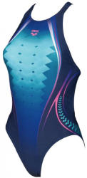 arena one placed print one piece navy/aphrodite 30