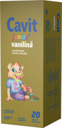Biofarm Cavit Junior vanilie, 20 tablete, Biofarm