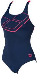 arena essentials swim pro back one piece lb navy/freak rose 32