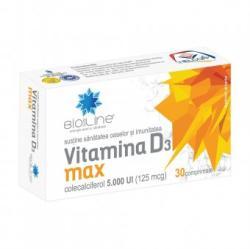 Helcor Vitamina D3 Max 5.000 UI, 30 comprimate, Helcor