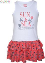 LOSAN Sun & Sea tengeri kagyló mintás nyári ruha 2-3 év (98 cm)