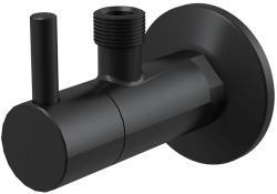 Alcaplast Sarokszelep, AlcaPlast matt-fekete kerek ARV001-BLACK