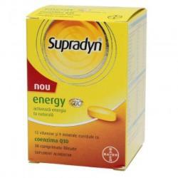 Bayer Supradyn Energy cu coenzima Q10, 30 comprimate filmate, Bayer (FSH977)