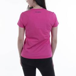 Lagerfeld Logo Rhinestone T-Shirt 206W1707 554 Roz XS