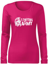 WARAGOD Slim tricou de damă cu mânecă lungă Aristón, roz 160g/m2