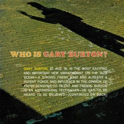 Burton, Gary Who Is Gary Burton?